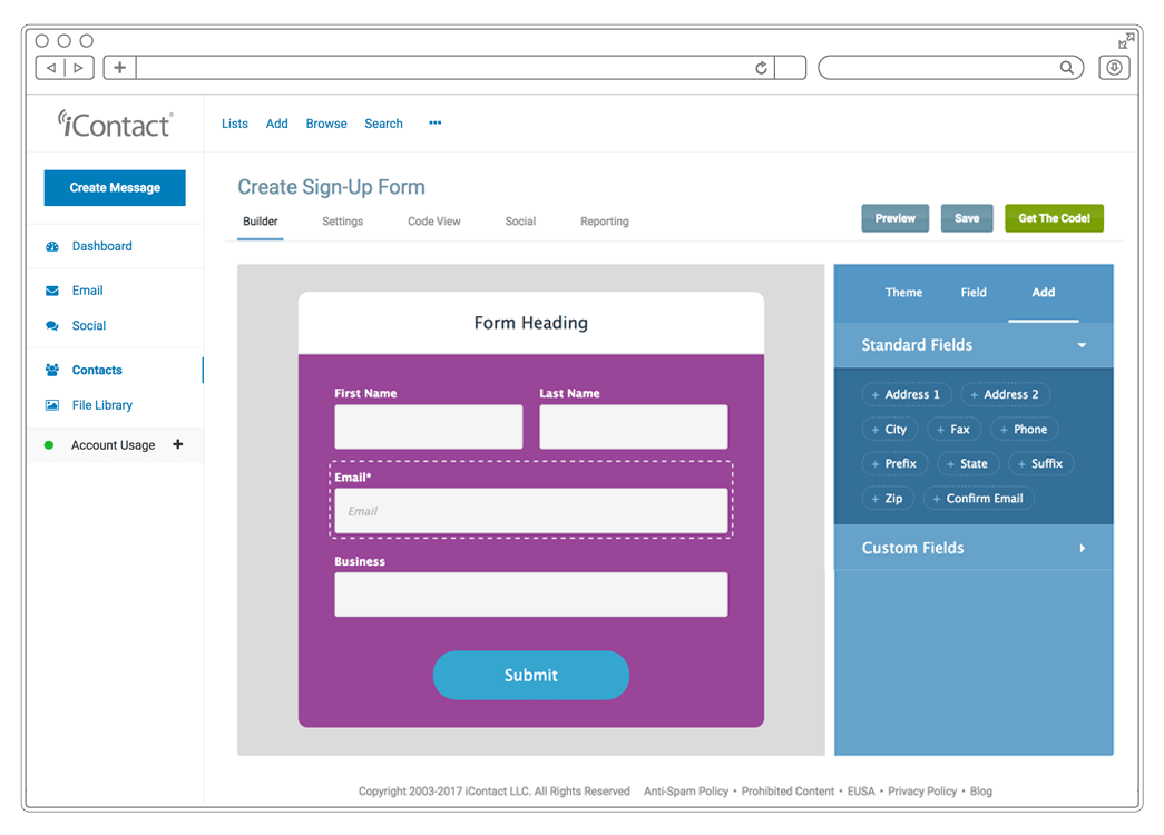 iContact Demo - Grow Your List with Customized Forms