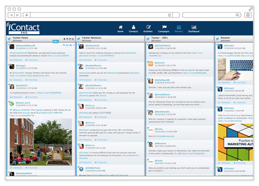 iContact Pro Demo - Manage Social Media Engagement
