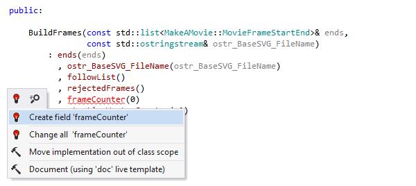 ReSharper C++ Demo -  Create from usage