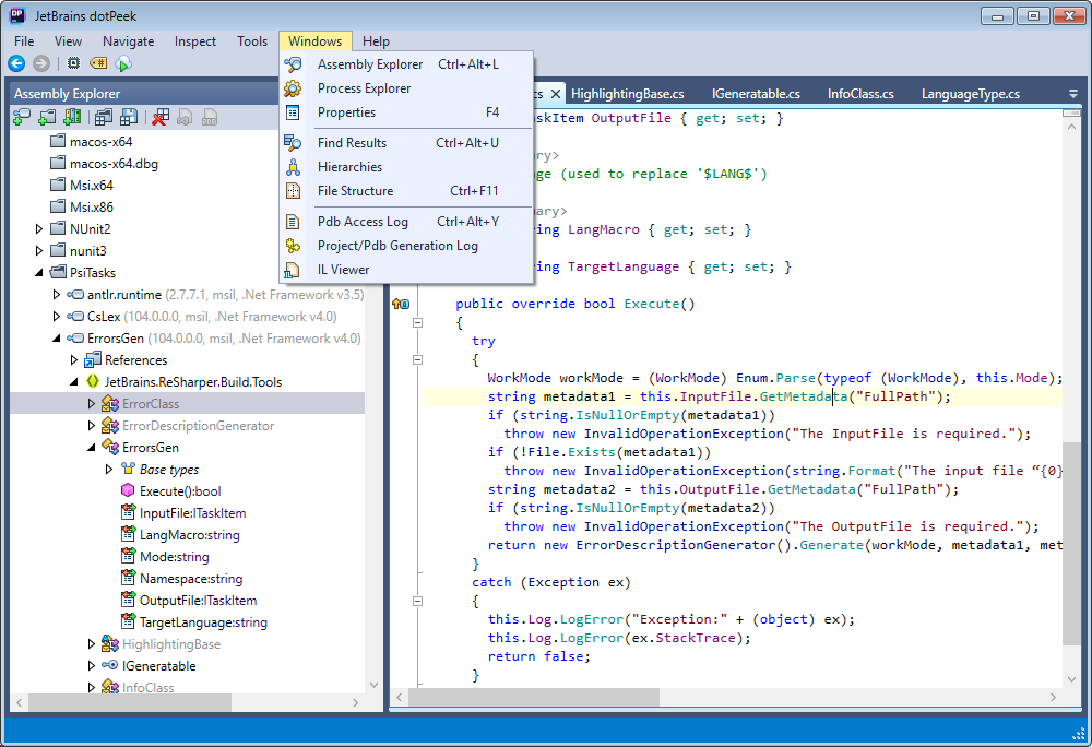 dotPeek Demo - Decompile .NET assemblies to C#