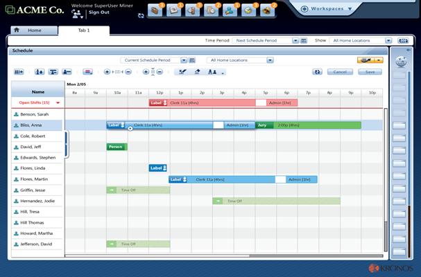 Kronos Workforce Central Demo - Workforce Central Scheduling