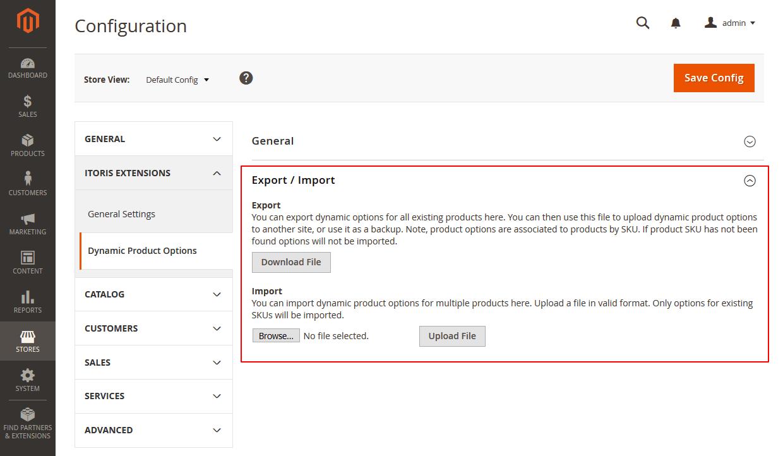 Magento 2 Custom Options Demo - Export Important Custom Options