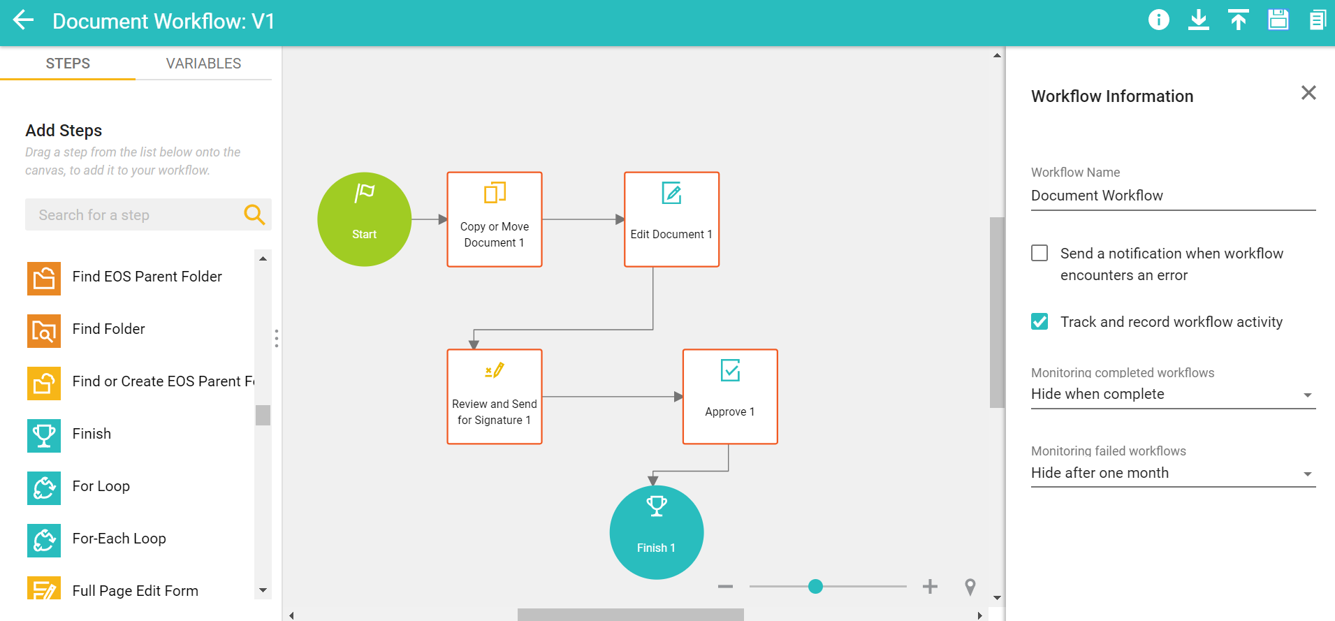 SpringCM Contract Management Demo - Create Advanced and Simple Workflows