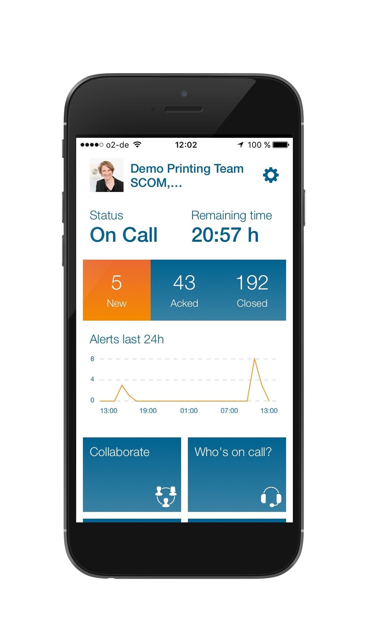 DERDACK Enterprise Alert Demo - Mobile Alert Dashboard
