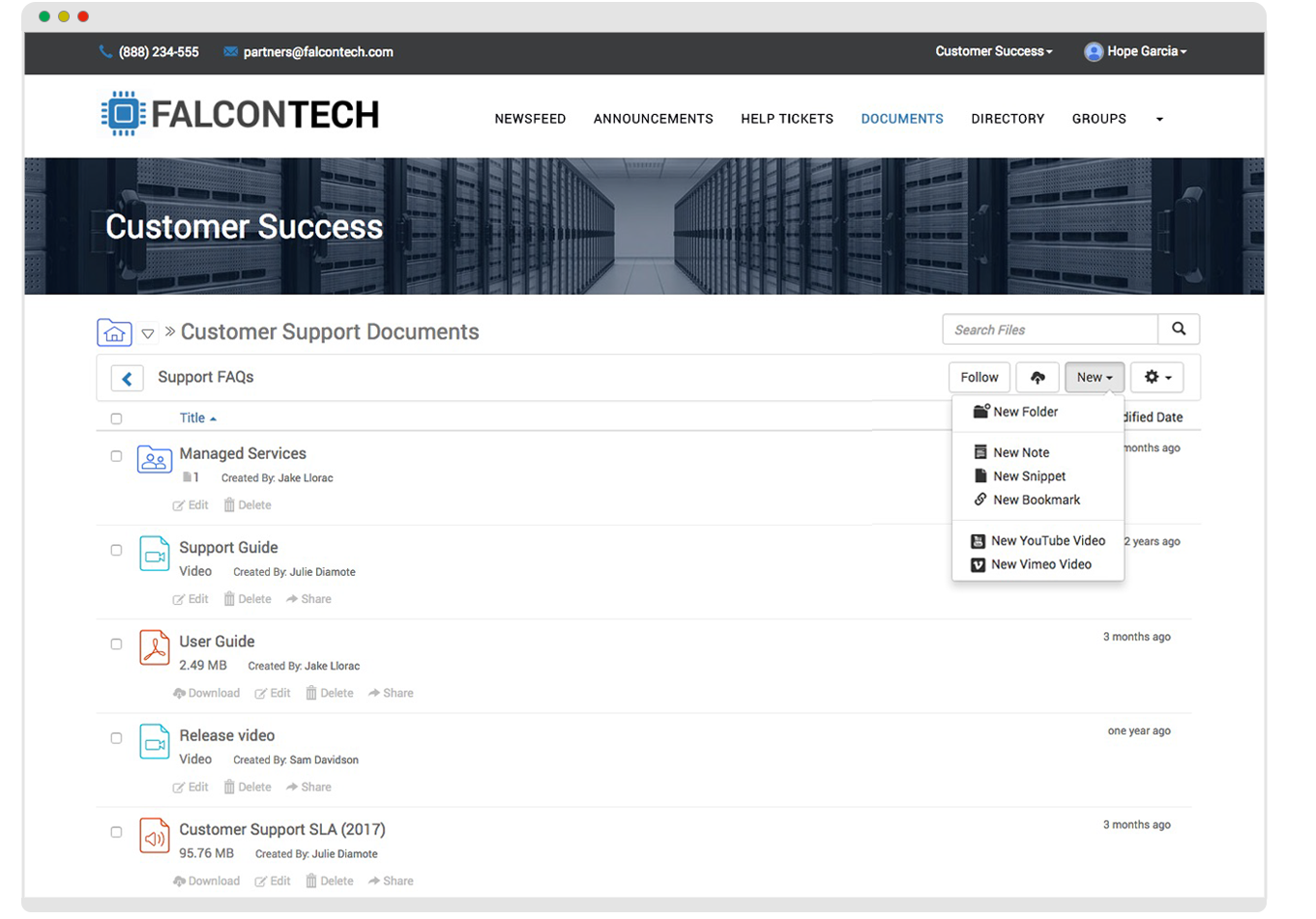 Magentrix Customer Community Demo - Document Management