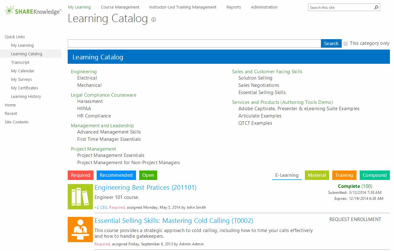 ShareKnowledge LMS Demo - Learning Catalog - ShareKnowledge LMS on SharePoint
