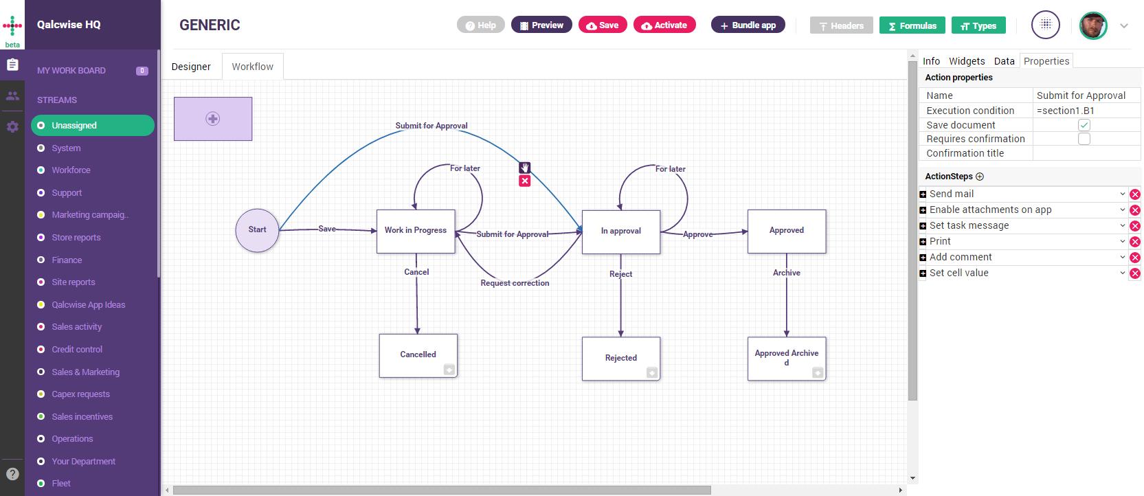 Qalcwise Demo - Workflow