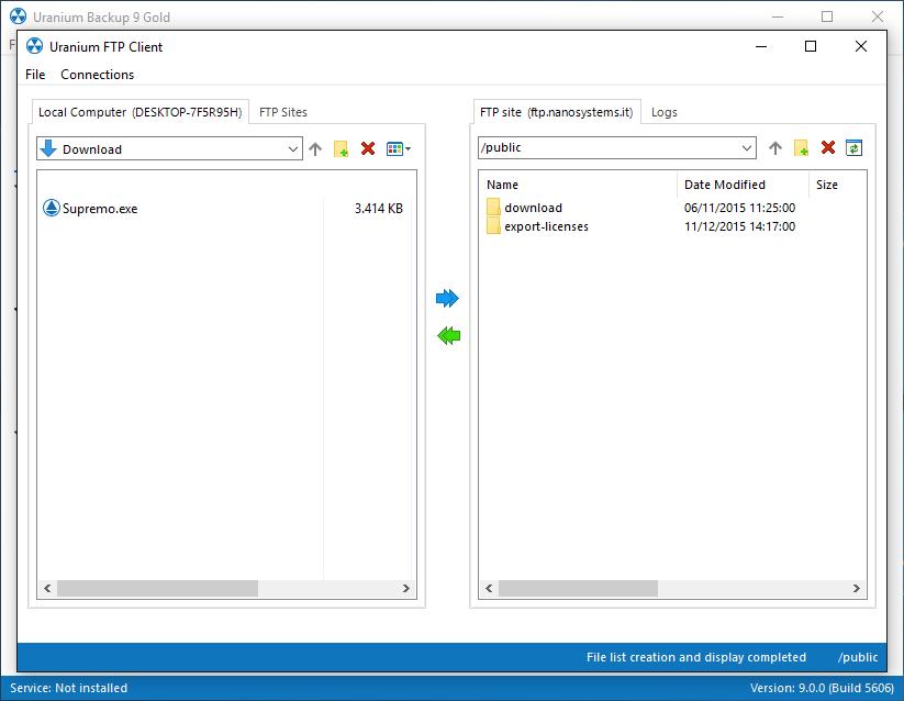 Uranium Backup Demo - Uranium Backup - Ftp client.png