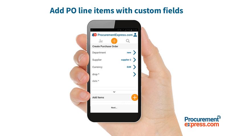 ProcurementExpress.com Demo - Add PO line items with customer fields