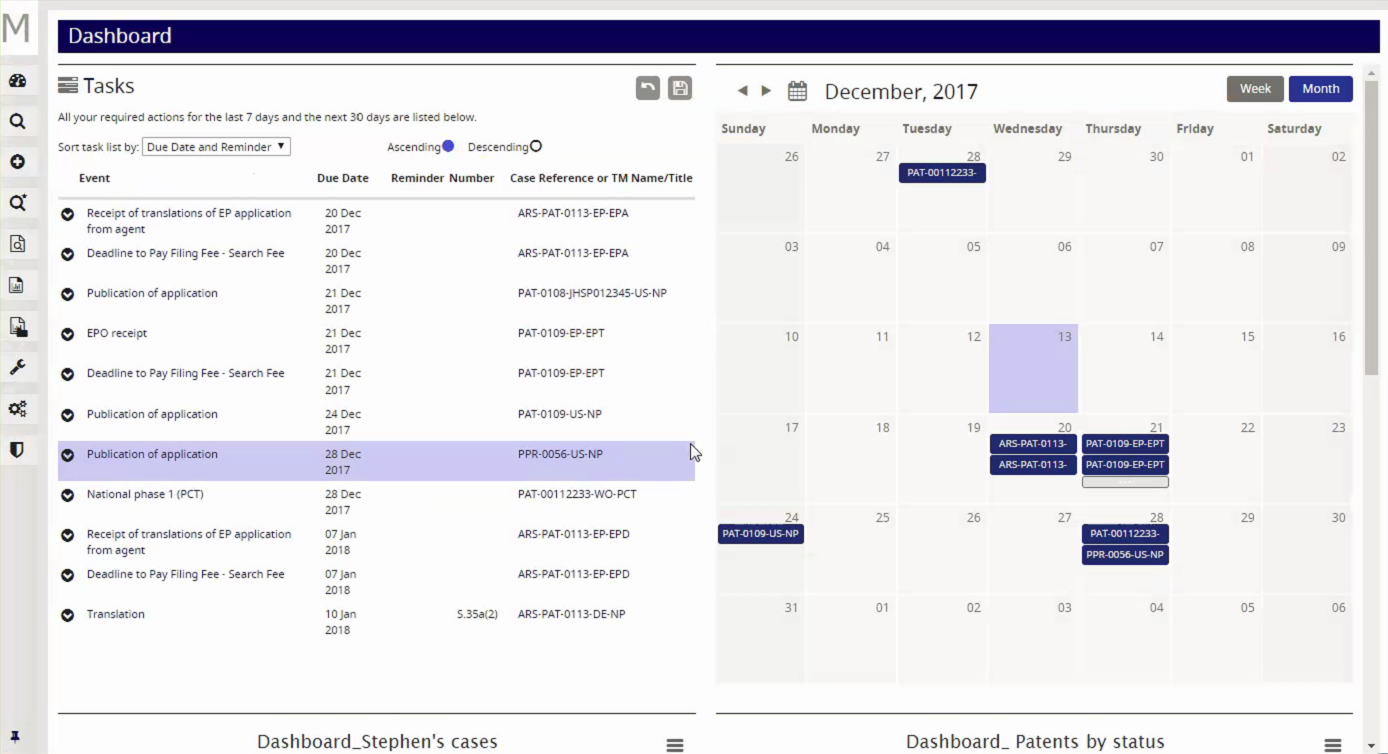 Memotech Demo - Memotech 7.3 - Dual Dashboard with Tasks and Calendar