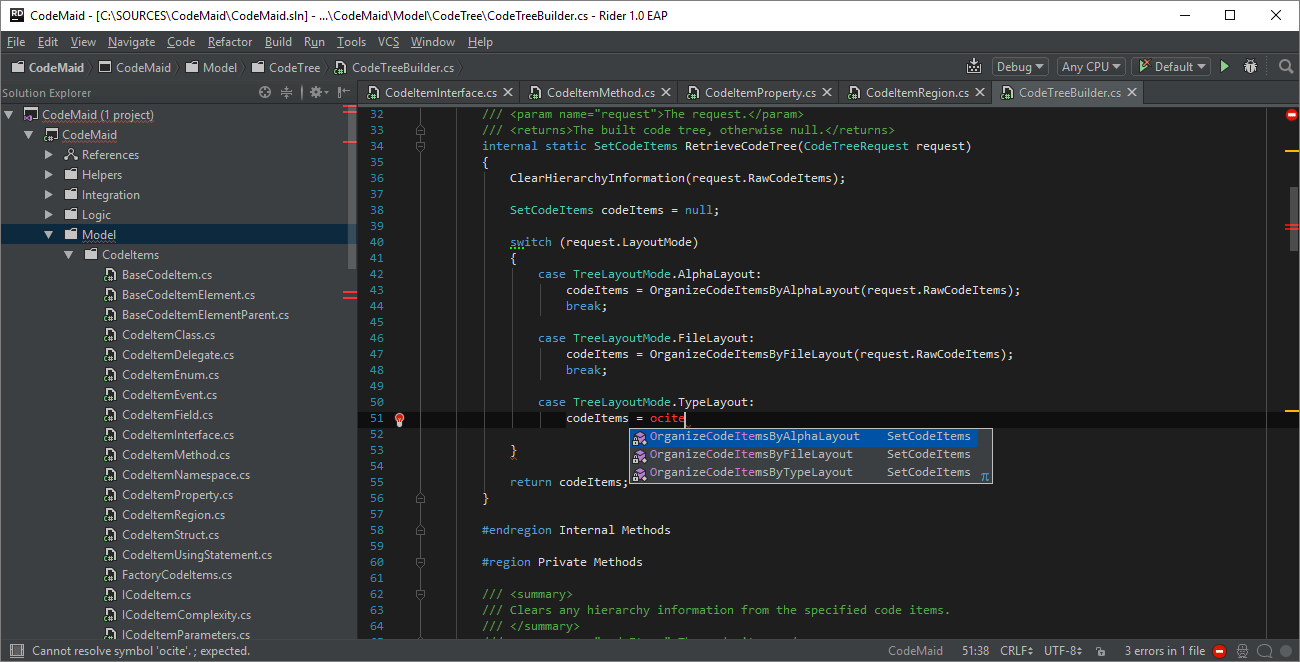 Rider Demo - Code Completion