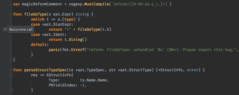 GoLand Demo - Detecting recursive calls
