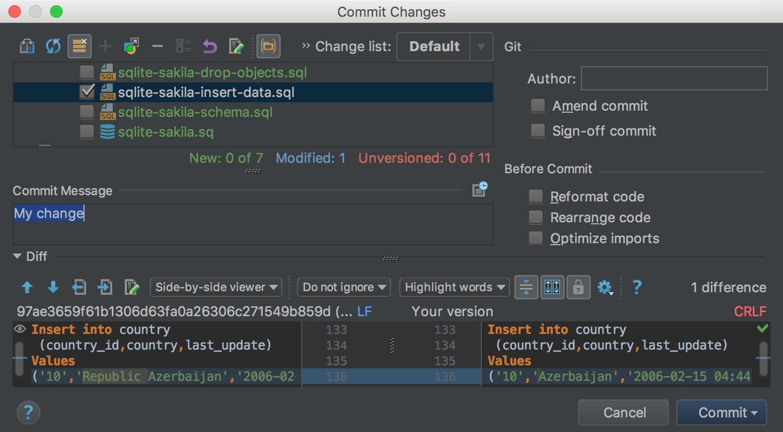DataGrip Demo -  Version control integration