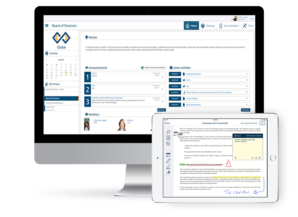 DiliTrust Exec Demo - DiliTrust Exec enhances the board meeting management and streamline your corporate governance practices