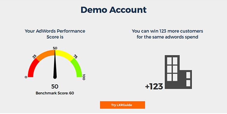LXRGuide Demo - LXRGuide Adwords Grader