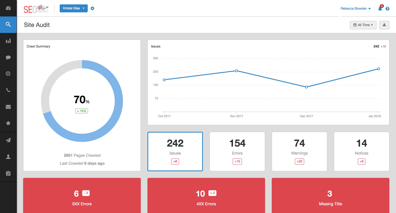 AgencyAnalytics Demo - SEO Site Audit Tool