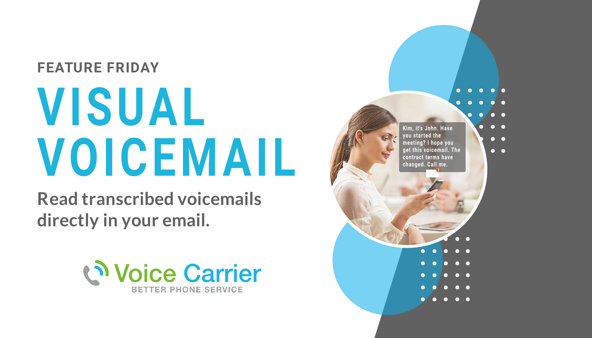 Voice Carrier Connect Demo - Visual Voicemail