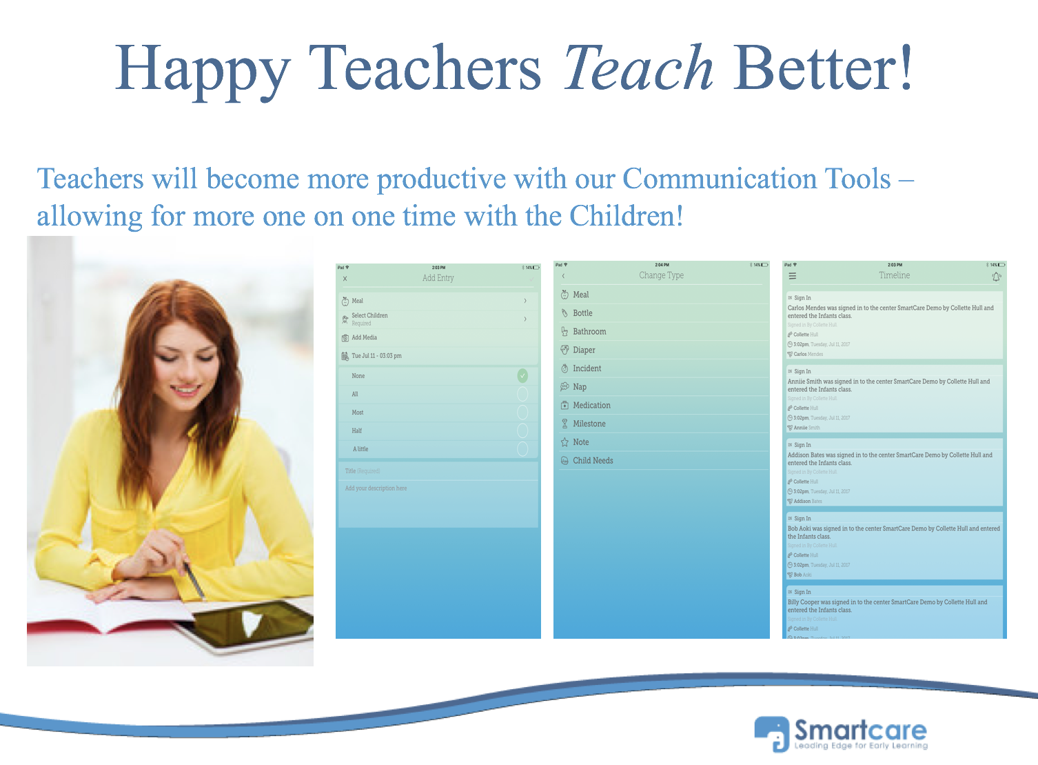 Smartcare Demo - Parent Teacher Communication in real-time