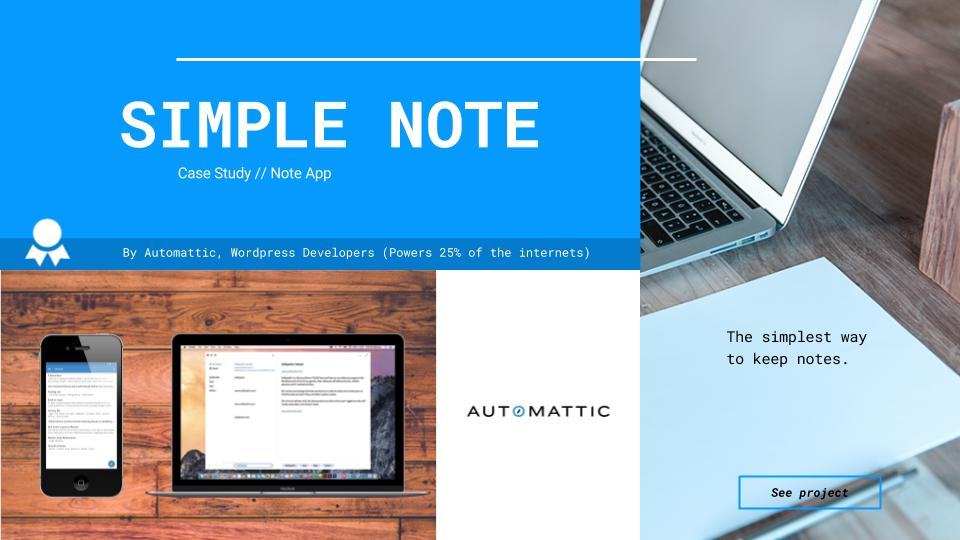 Cortex - App Development Company Demo - Automattic's Simple Note Case Study