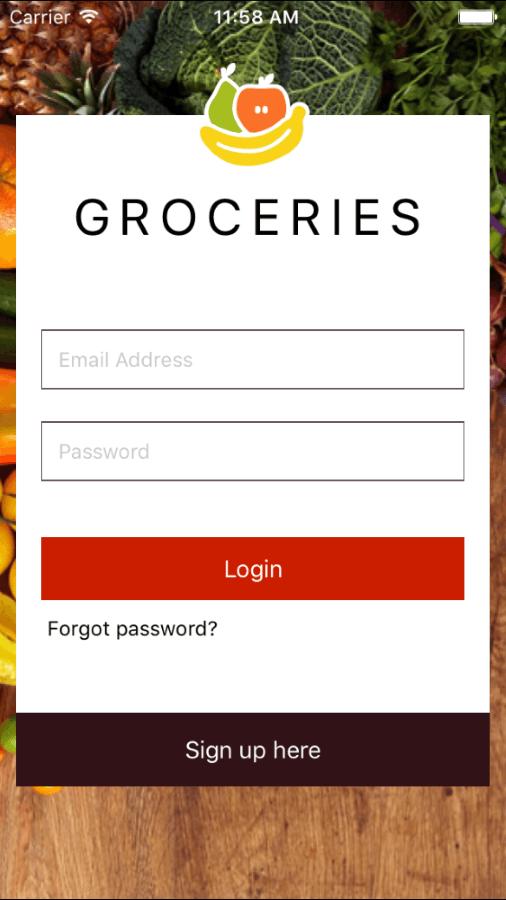Native Script Demo - Groceries App