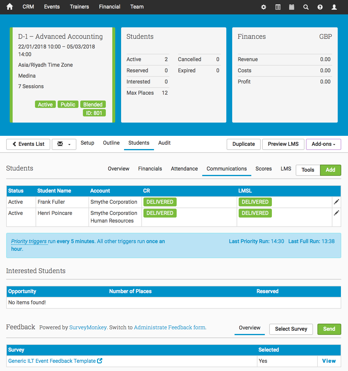 Administrate Demo - Courses and Events
