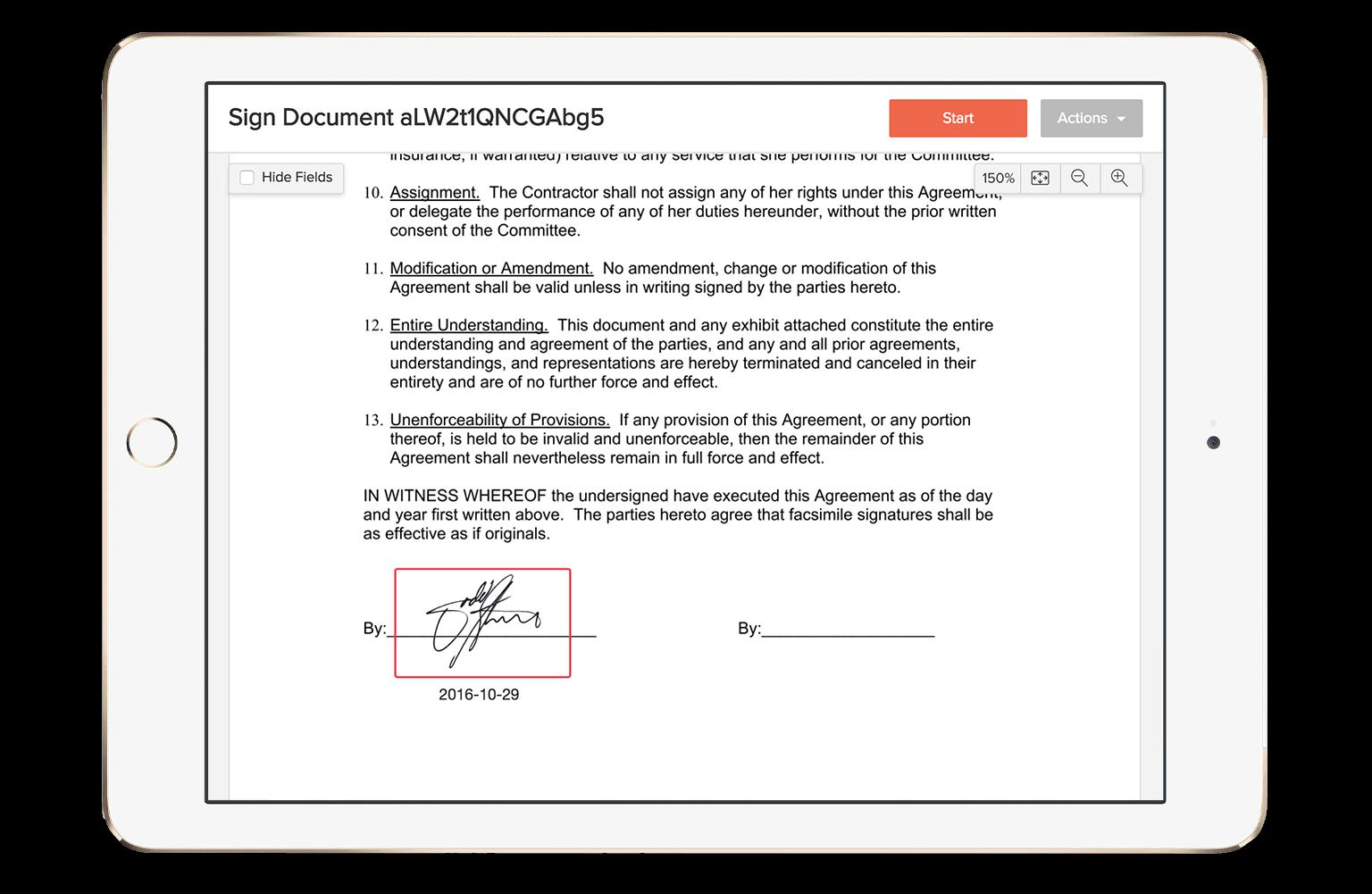 eversign Demo - eversign mobile