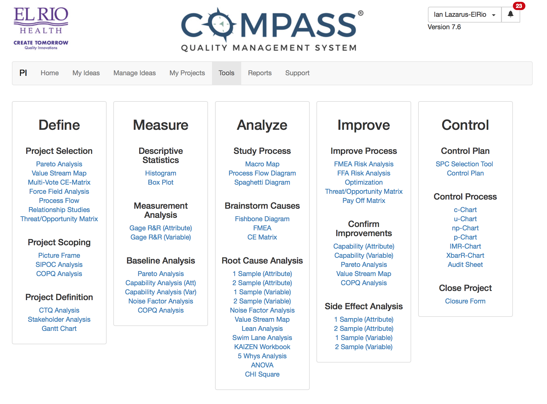 COMPASS® Quality Management System Demo - COMPASS Tools
