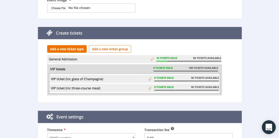 Ticket Tailor Demo - Managing ticket types