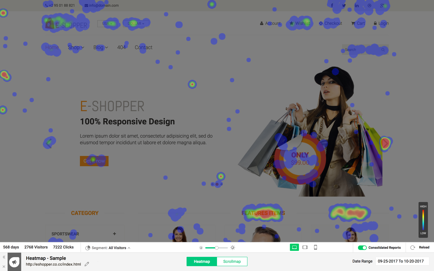 Freshmarketer Demo - Dynamic Heatmaps