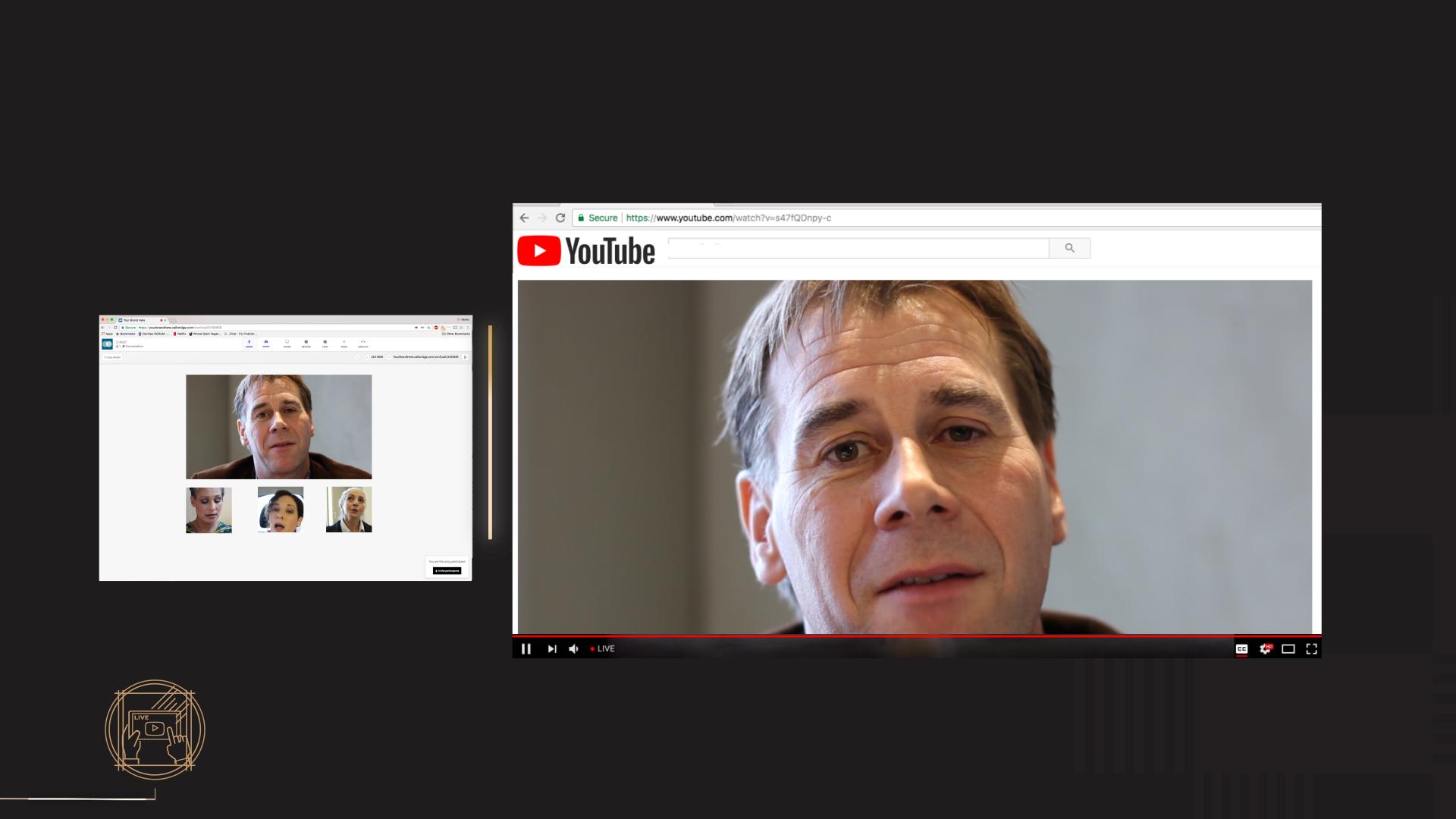 Callbridge Demo - Video Streaming to YouTube