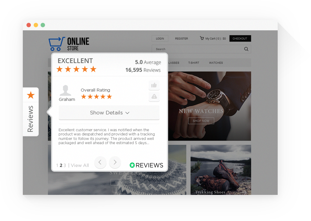 Reviews.io Demo - Floating Review Widget