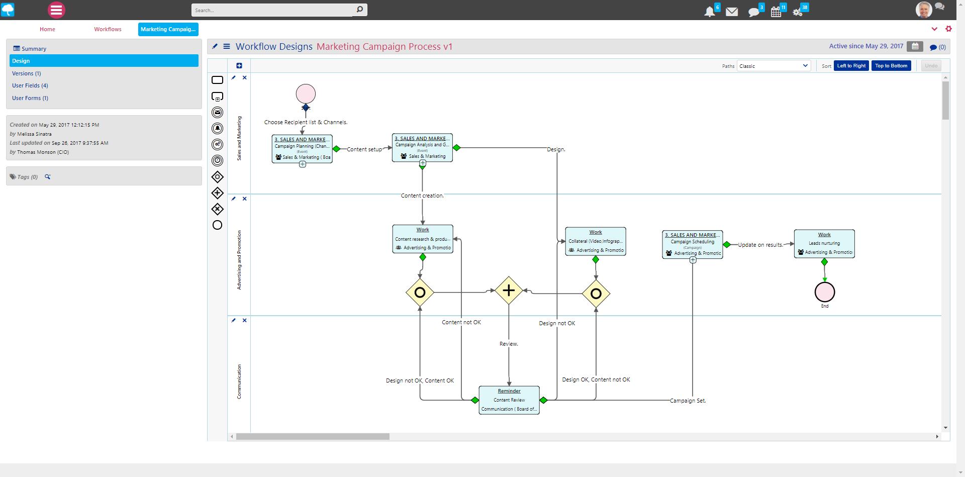 Comidor Demo - Workflow Modeller with BPMN 2.0