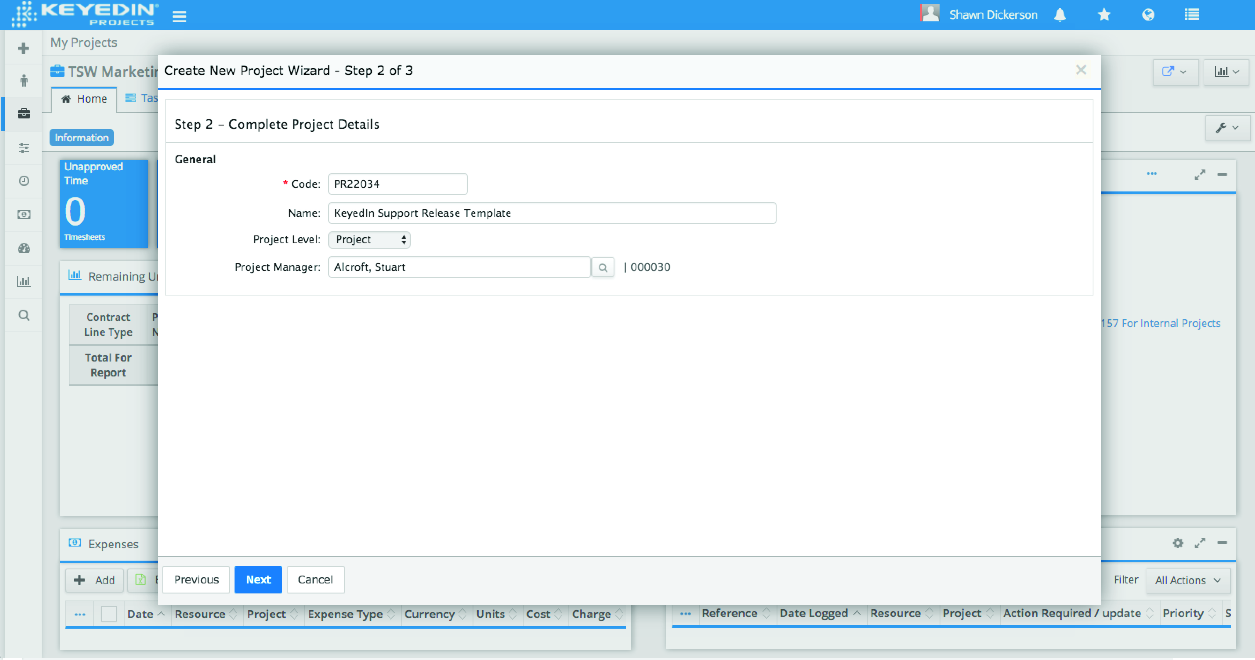 KeyedIn® Projects Demo - Project Intake