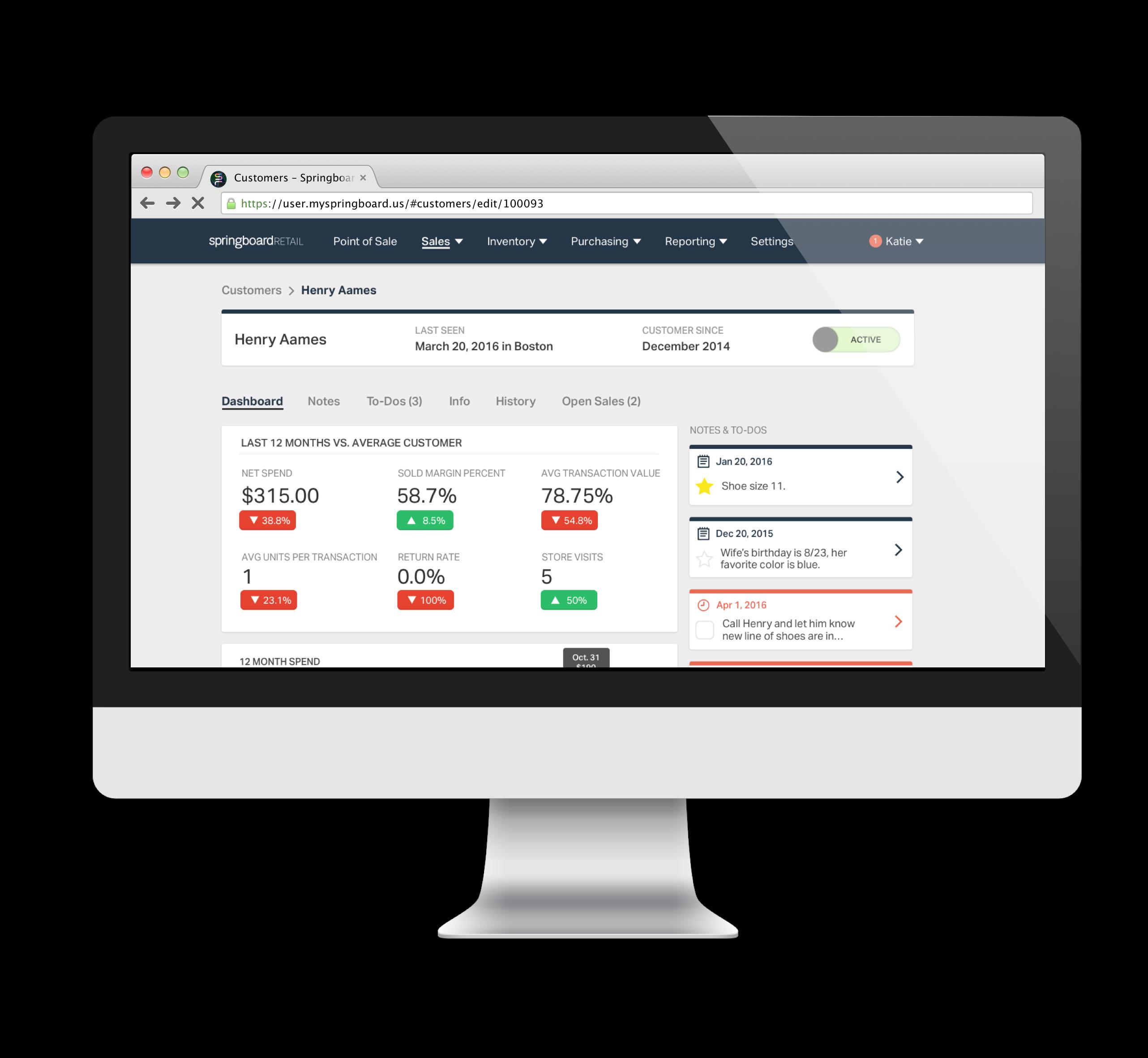 Springboard Retail Demo - Springboard Retail Customer Dashboard
