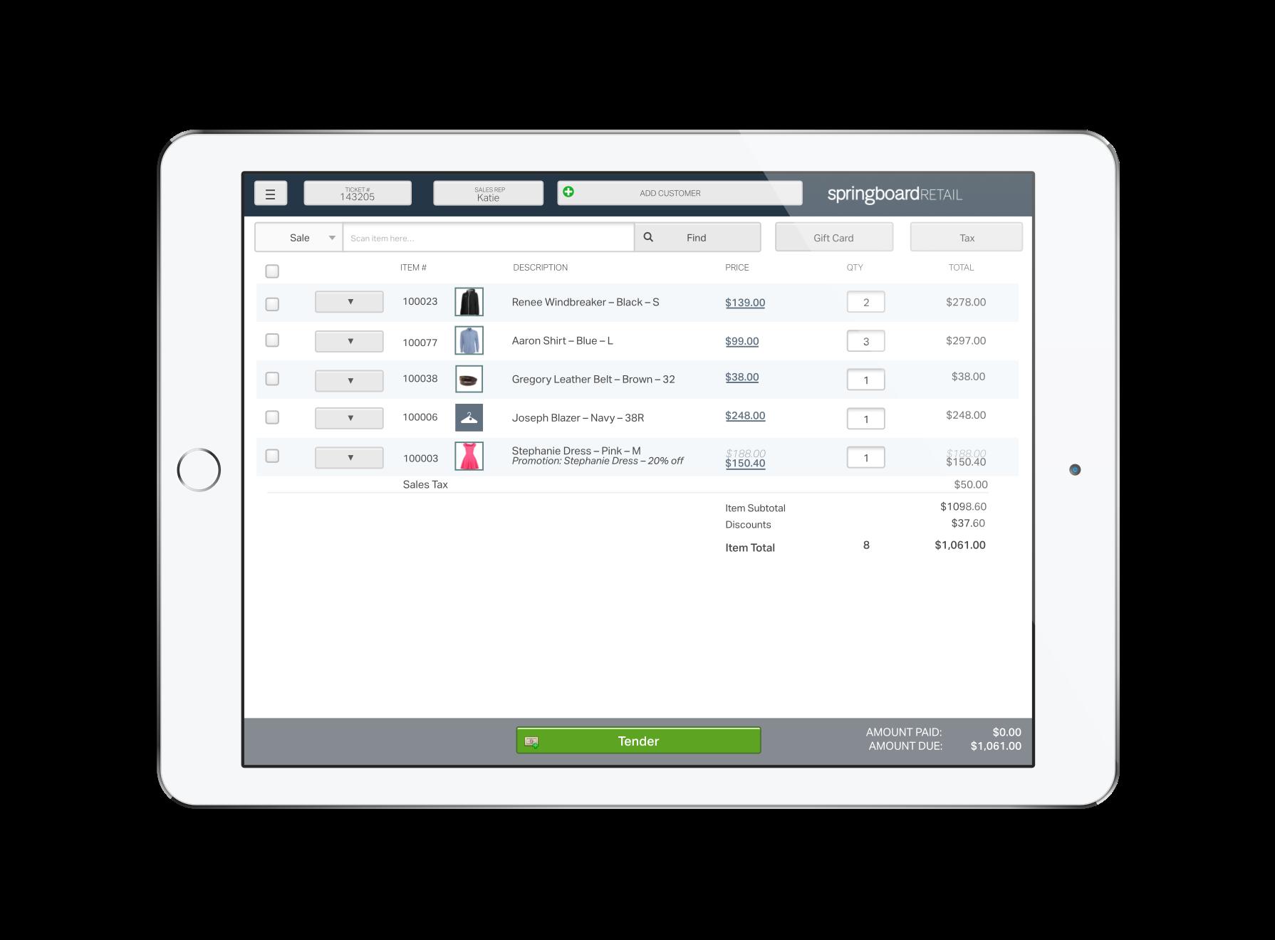 Springboard Retail Demo - Springboard Retail POS