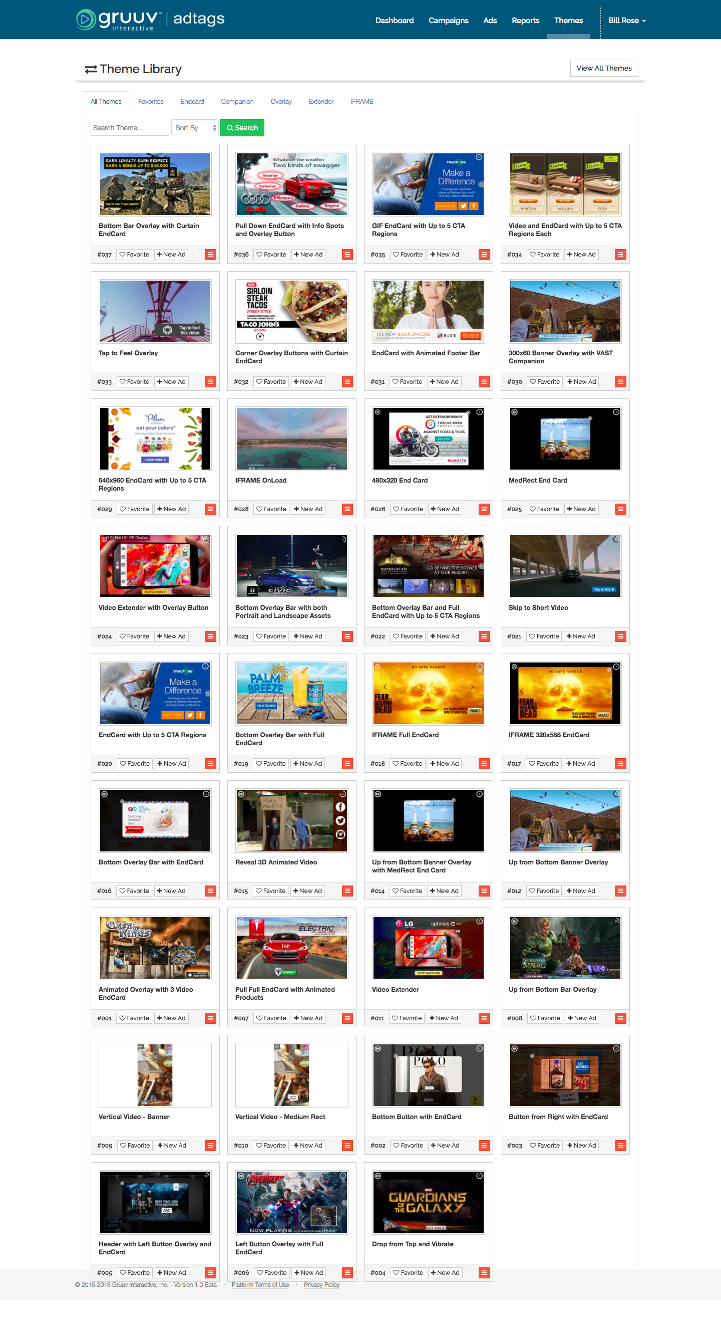 Gruuv Interactive Demo - Theme Library