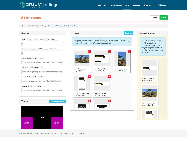 Gruuv Interactive Demo - Ad Builder Theme