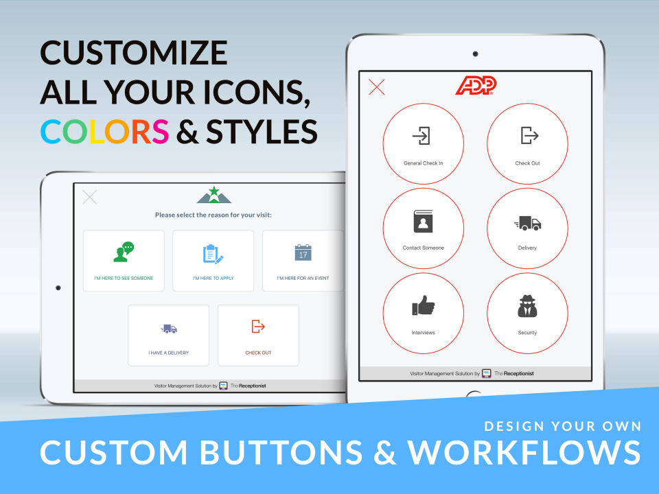 The Receptionist Demo - Design your own custom buttons and workflows