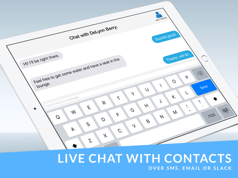 The Receptionist Demo - Live chat with contacts