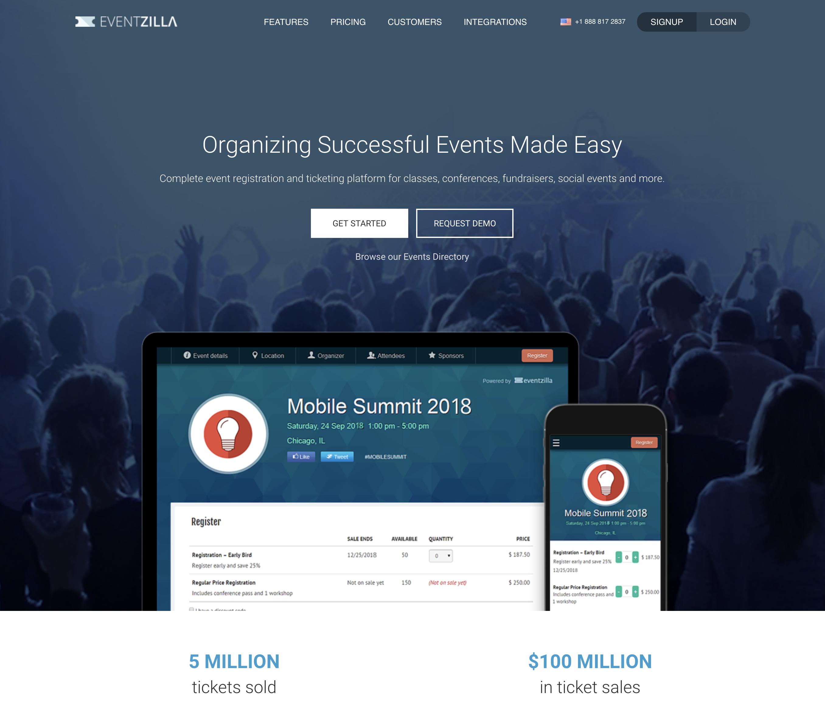 Eventzilla Demo - Event Registrations and Management Platform