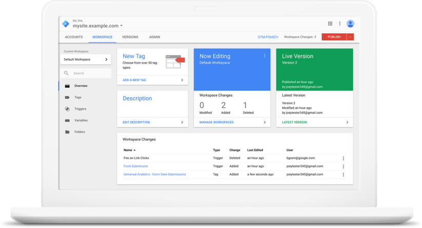 Google Tag Manager Demo - Tag Manager is free and easy to use