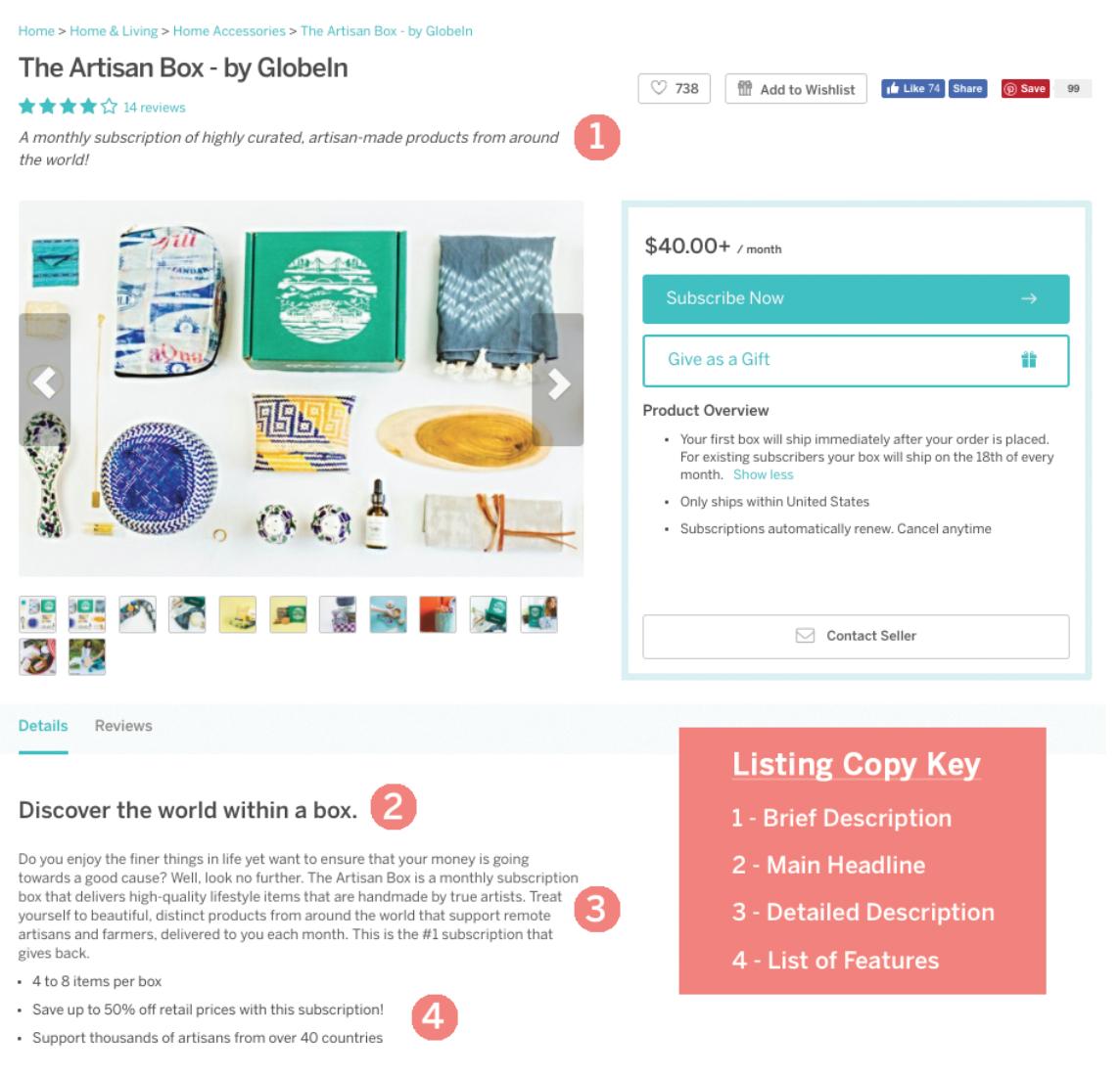 Cratejoy Demo - Cratejoy Marketplace Listing
