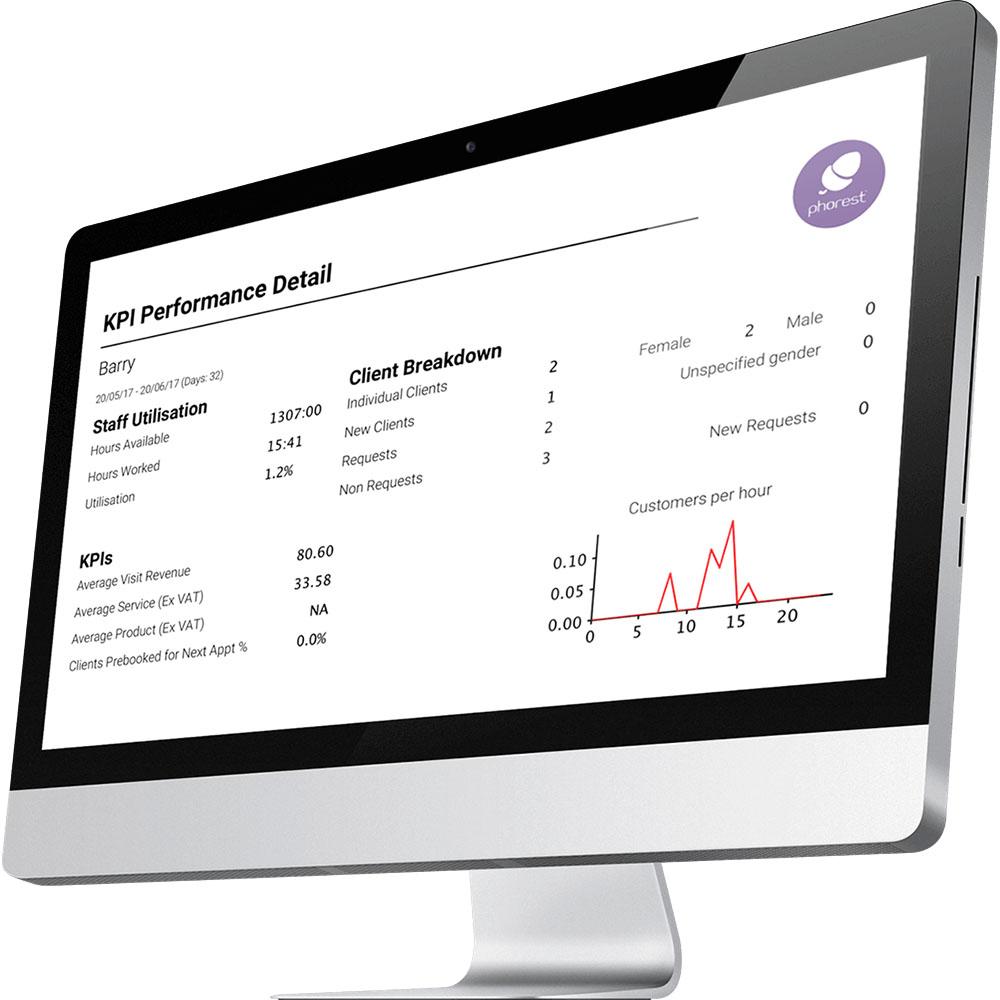 Phorest Salon Software Demo - Phorest Salon Reporting Screen