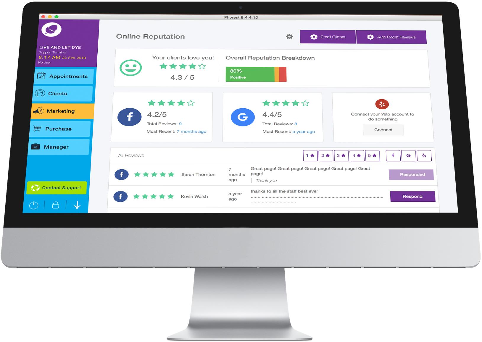 Phorest Salon Software Demo - Phorest Salon Online Reputation Feature
