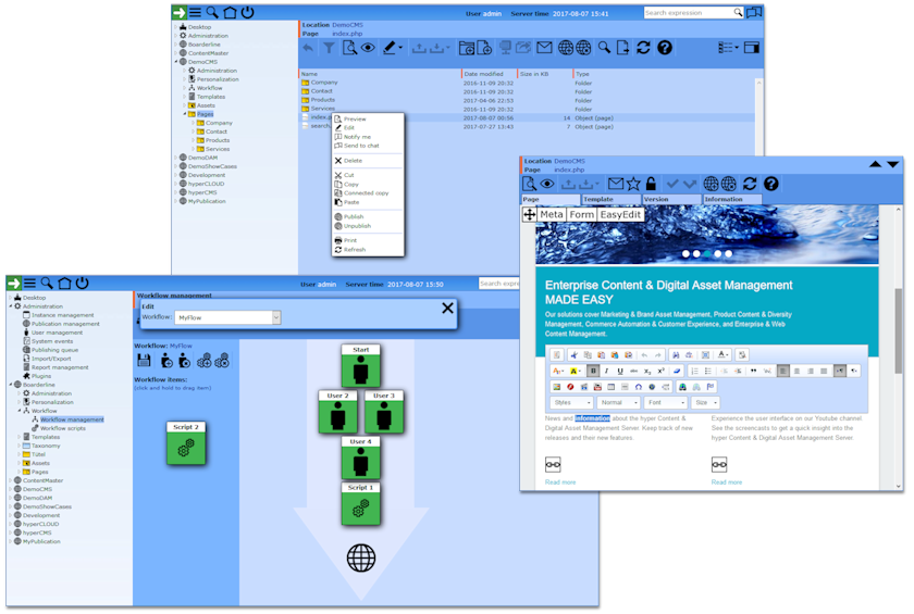 hyper Content & Digital Asset Management Server Demo - Content Management