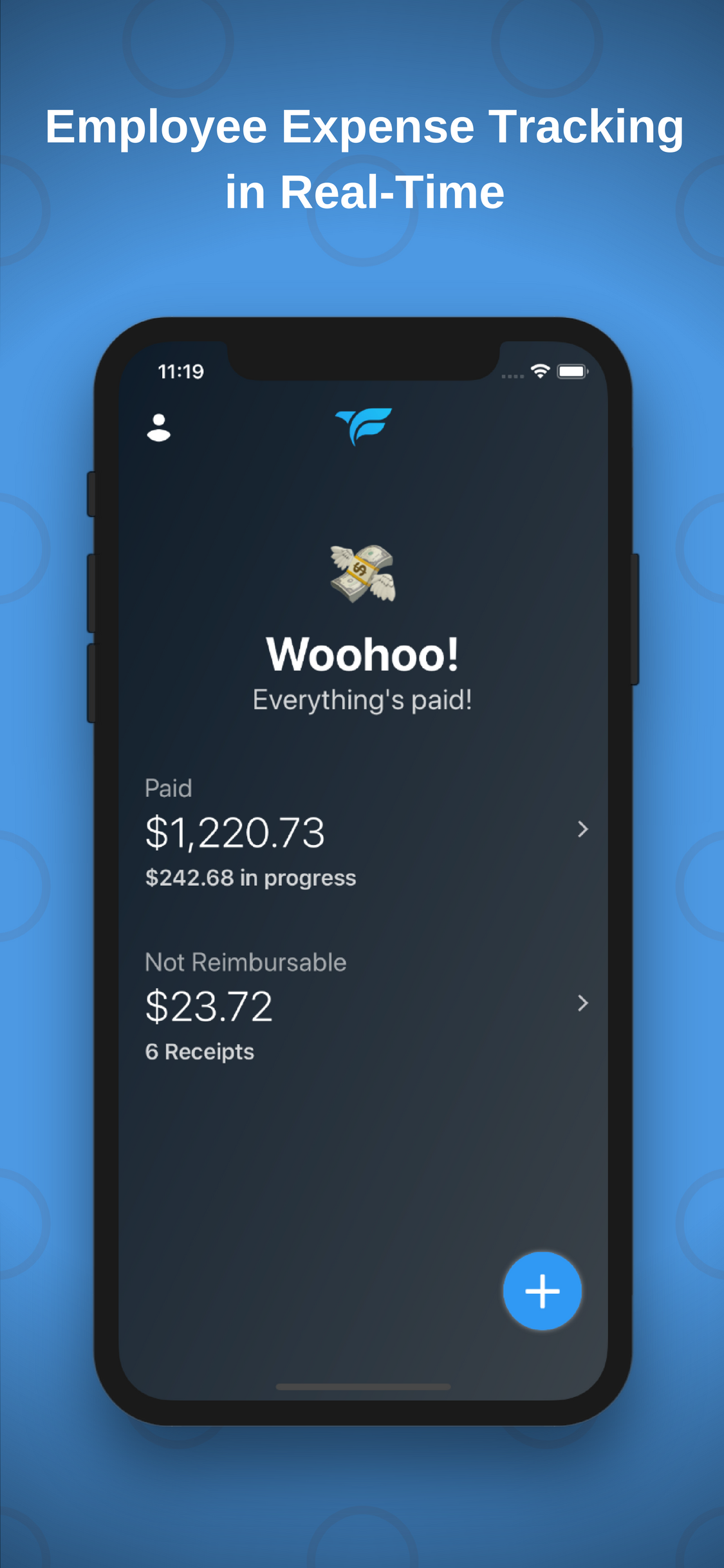Fetch - Expense Management Demo - Fetch iPhone Home