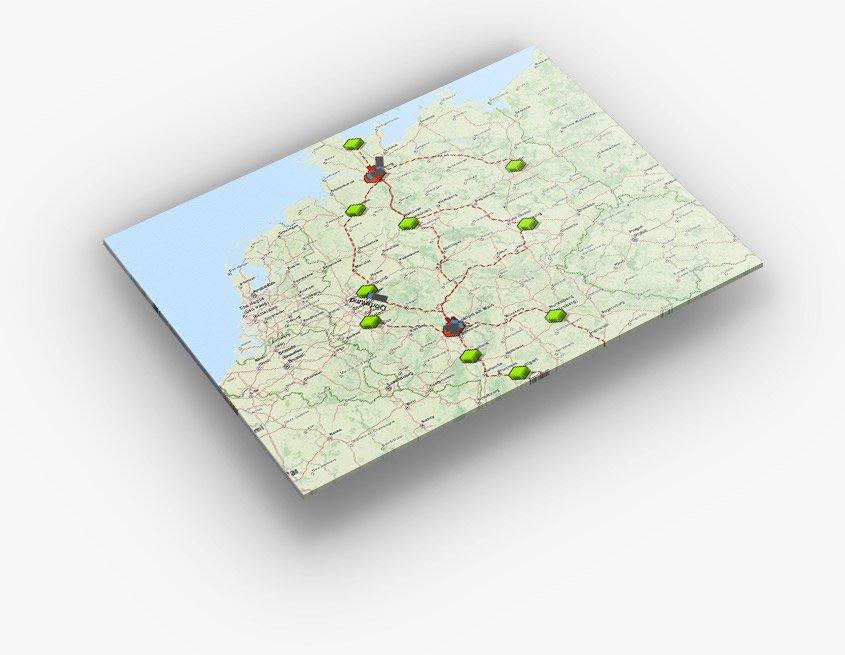 AnyLogic Demo - GIS maps integration
