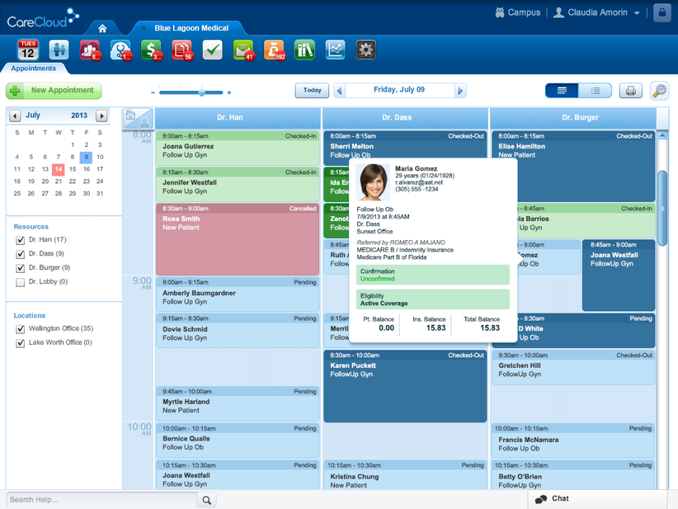 CareCloud Demo - Patient & Physician Scheduling