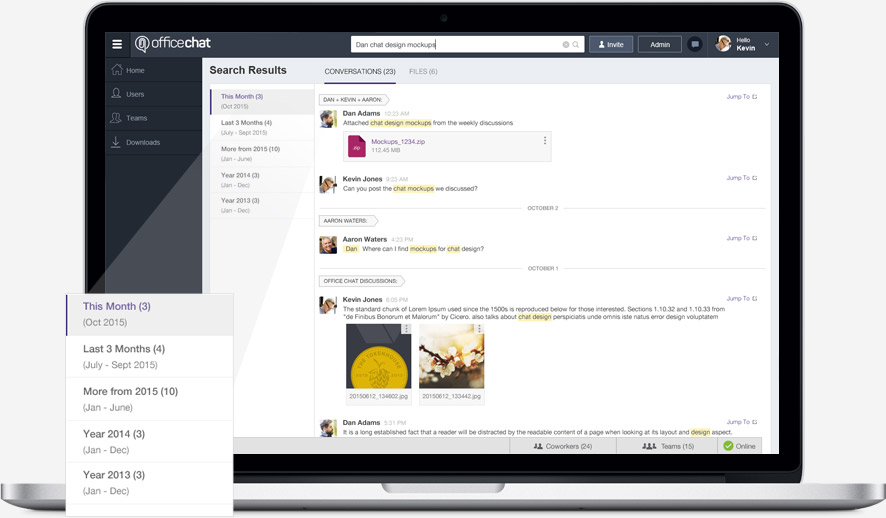 Office Chat Demo - Full Searchable Chat History