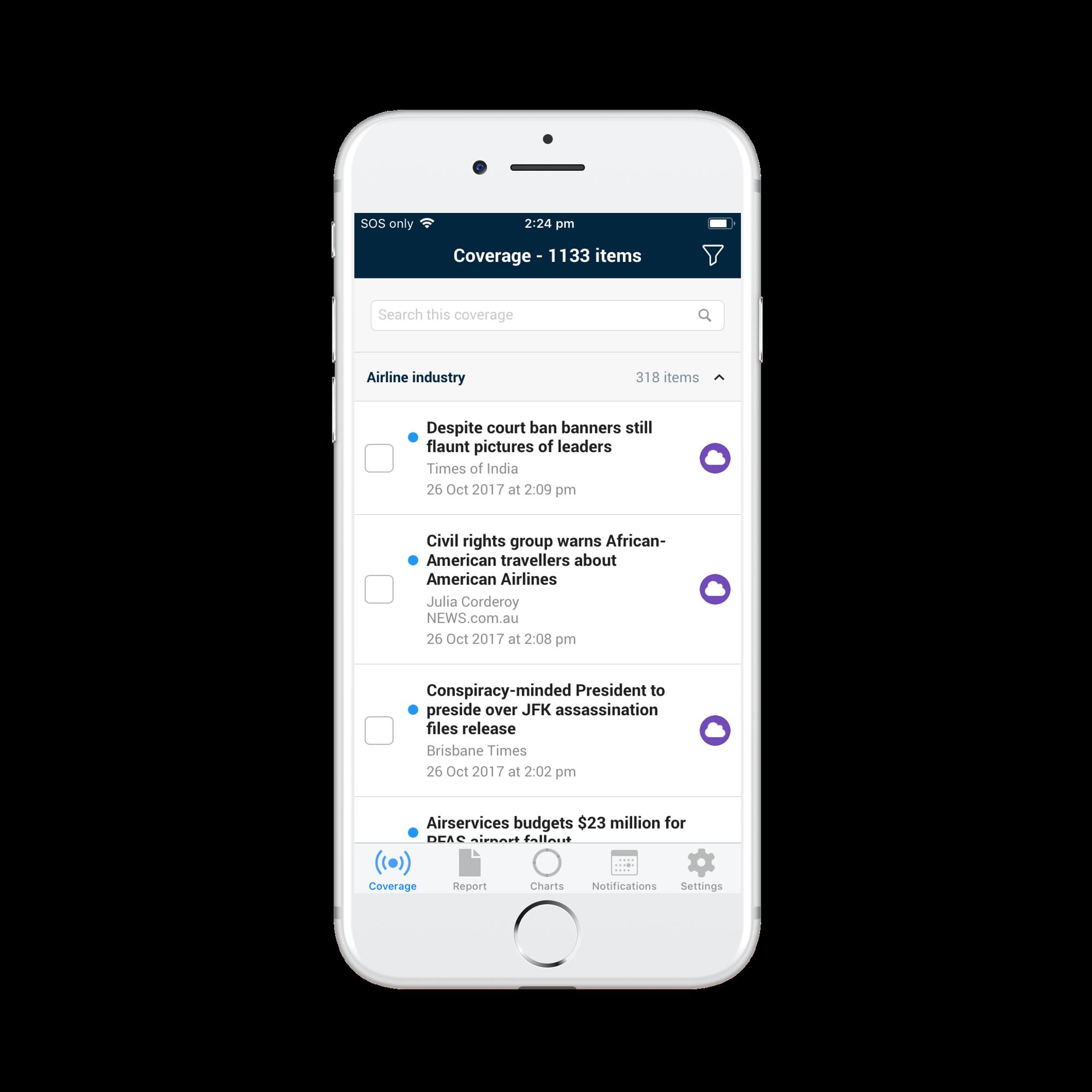 Isentia Mediaportal Demo - Isentia's Mediaportal App